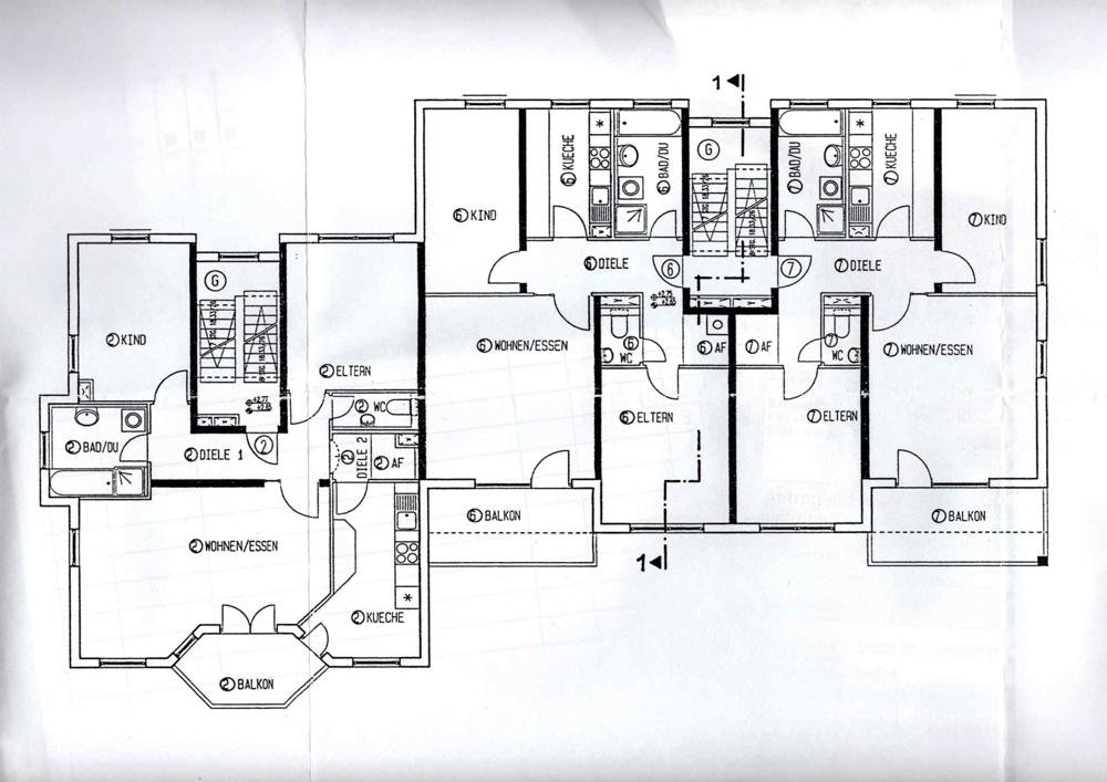 Grundriss-1OG Wohnung 6