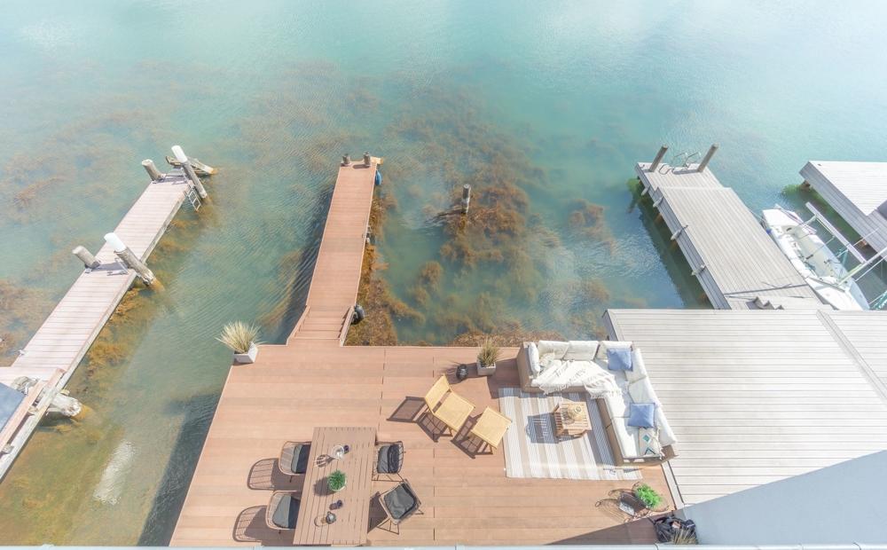 Blick aufs Wasser von Dachterrasse